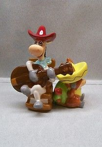 QUICK DRAW MCGRAW CARTOON HORSE & BABBA LOOEY DONKEY SALT & PEPPER SHAKERS WG