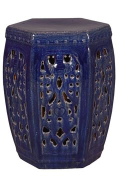 Blue Garden Stool | Blue Ceramic Stools | Blue Porcelain Stool | Blue  Ceramic Stool | Blue Porcelain Stools | Blue Pottery Stool | Blue Pottery  Stools ...