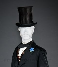 sometimes called a chimney pot or stovepipe. Equated with authority and success, top hats were worn by the aristocracy, bankers, reputable businessman and politicians. Because of these authoritative associations, top hats were also worn by ambitious men of the lower classes who hoped to make their way in the world.