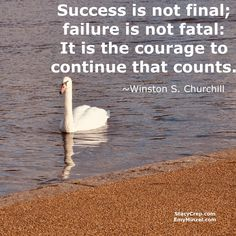 Success is not final; failure is not fatal: It is the courage to continue that counts. ~ Winston S. Success Is Not Final, Inspire Others, Churchill, Sisters, Adventure, World, Nature, Travel, Naturaleza