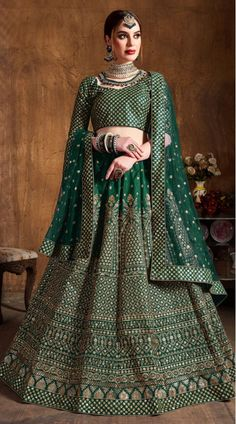 This Navy Blue Raw Silk Lehenga Choli has embroidery patch work. Zari And Glitter Sequins Embroidery can be customized up to size 42 only. Soft net dupatta comes with lehenga choli. Indian Lehenga, Raw Silk Lehenga, Green Lehenga, Bollywood Lehenga, Bollywood Style, Silk Dupatta, Heavy Lehenga, Lehenga Choli Designs, Lehenga Choli Online