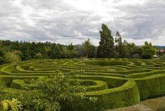 Cool maze garden at Wicklow, Ireland.
