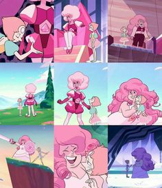 Pink Diamond/Rose Quartz and Pearl Pearl Steven Universe, Steven Universe Drawing, Steven Universe Movie, Pink Diamond Steven Universe, Universe Art, Cartoon Shows, Fanart, Drawings, Anime