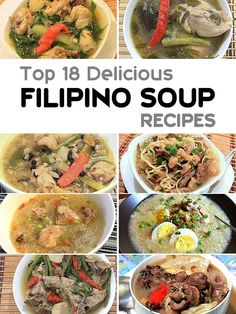 "Try these Delicious Filipino Soup Recipes. Rainy days are part of Filipino life, that's why we have a long list of delicious soup dish or ""Sopas"". via Pinoy Recipe at Iba Pa Filipino Soup Recipes, Pinoy Food Filipino Dishes, Filipino Vegetable Recipes, Pork Recipes, Asian Recipes, Cooking Recipes, Filipino Food Party, French Recipes, Vegetarian Recipes"