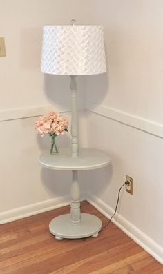 French country floor lamp foter creativity pinterest floor gray french country farmhouse vintage floor lamp with table solid wood bedroom nursery living room lighting cottage aloadofball Gallery