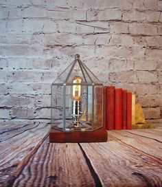 Table Lamp - Lighting - Industrial Lamp - Upcycled Glass Light