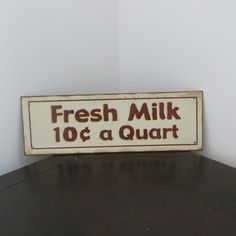 Vintage Metal Sign Milk Metal Sign Sign Store by oZdOinGItagaiN, $45.00