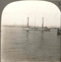 1926 New York City Harbor Stereo View - Flettner Rotor Ship Baden ...