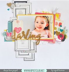 Hello and Happy Friday Designer @raquelp has created this gorgeous LO with our #december2015 kits featuring @cratepaper @maggiehdesign @americancrafts #hipkits #hipkitclub #scrapbook scrapbooklayout #decemberkits
