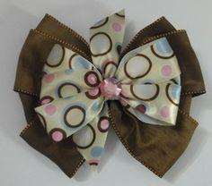 Satin Ribbon Polka Dotted Hair Bow | Jenstardesigns - Accessories on ArtFire