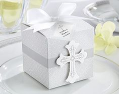 Cross First Communion favor box