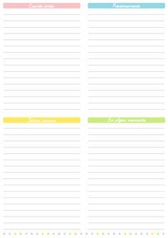 Personalización de Blogs: Blog con consejos y trucos para blogueras: Lista de cosas para hacer (to do list) imprimible gratis