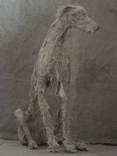 Helen Thompson, also known as Holy Smoke, is a UK-based artist who creates stunning dog sculptures out of unexpected materials. These unique canines are Armature Sculpture, Textile Sculpture, Paper Mache Sculpture, Dog Sculpture, Pottery Sculpture, Animal Sculptures, Textile Art, Helen Thompson, Spirited Art