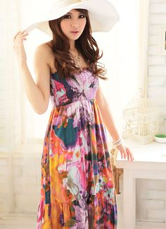 maxi dresses are so popular in honolulu (sometimes worn with a bandeau or a tshirt underneath)