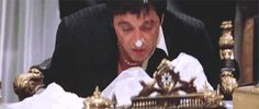 scarface, cocaine, sniffing, high, al pacino animated GIF Al Pacino, Michelle Pfeiffer, Scareface Quotes, Movie Gifs, Movie Tv, Scarface Film, Montana, Hello To Myself, Dibujo