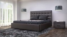 Delano Bed Brown, Mocha Chocolate designer bedroom furniture.  Same day delivery in the Miami Dade region and we ship nationwide.