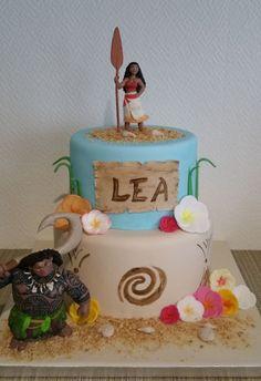 Gâteau Vaiana pour l'anniversaire de vos enfants // cake design // Une belle réalisation de Laetitia.