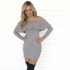 832ced16c7 Casual In Cashmere Grey Sweater Dress - Dainty Hooligan Boutique Grey  Sweater Dress