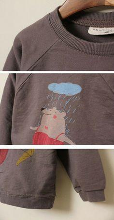 Let It Rain Bear Sweatshirt||Color Me WHIMSY