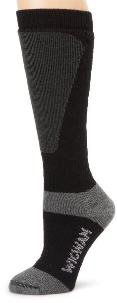 Wigwam Men's Snow Sirocco Knee High Performance ski Sock,, Black, Medium
