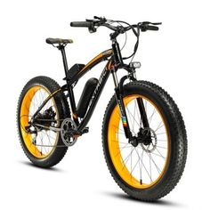 Cyrusher Fat Tire Bike Snow Bike Mountain Bike with Motor 500W 48V Lithium Battery Extrbici XF660 Shimano 7 Speeds System 4