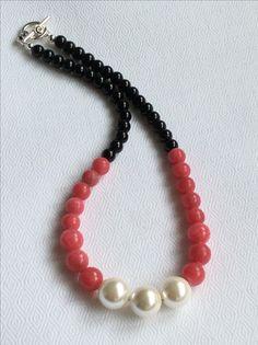 Aragonite, Swarovski pearls and agate necklace.