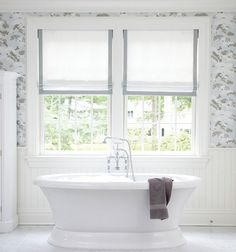 Beautiful custom made roman shades. Add your style to your windows.
