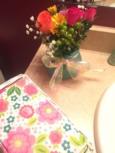 Easter 2015 Flowers from my BFF in my powder room