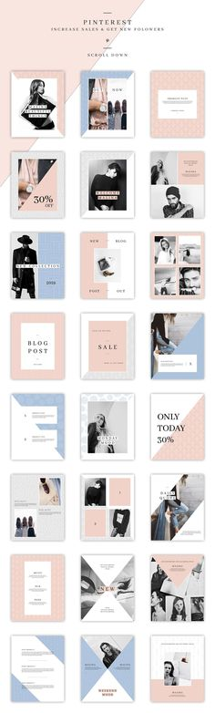 MALINA Social Media Pack & 20Pattern by AgataCreate on @creativemarket #ad