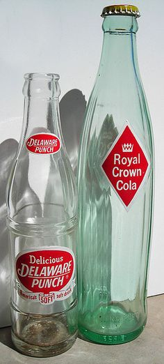 1950's. I loved Royal Crown cola. Believe it or not-we would hammer a nail in the cap and drink from that. It lasted longer!