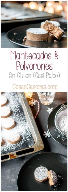 Mantecados and polvorones are popular Spanish Christmas cookies. Smooth and silky like their traditional counterparts, these allergy-friendly cookies are gluten-free and grain-free. Paleo Dessert, Healthy Dessert Recipes, Easy Desserts, Real Food Recipes, Cookie Recipes, Delicious Desserts, Mantecaditos, Gluten Free Breakfasts, Gluten Free Cookies