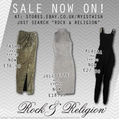 Why don't you #Shop our #SALE?! Head to: stores.ebay.co.uk/my1stwish and search 'Rock & Religion'.  You can get our #TASHA skirt for £36.99 instead of £49.99, #JULLIETTE for £18.99 instead of £34.99 and our #ALAINA jumpsuit for just £27 instead of £49.99!!