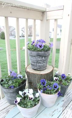DIY Flower Pots from Glamorous, Affordable Life