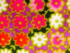 Geometric Flower Fabric//  Cotton Blend Crape Fabric by KimberlyZ