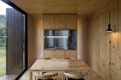 MINIMOD Catuçaba is two of MAPA's prefab cabins installed in the countryside of São Paulo in Brazil. Prefab Cabins, Prefabricated Houses, Prefab Homes, Trailer Park, Eco Cabin, Microhouse, Journal Du Design, Building Design, House Design
