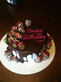 Chocolate Covered Strawberry Cake Birthday