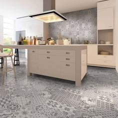 A gorgeous Victorian style tile that oozes a shabby-chic vibe with its mismatched patchwork format - great for kitchen floors and walls! (http://www.directtilewarehouse.com/avon-original-style-tiles-grey-mosaic-effect-tiles/)