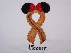 SHIPS FREE Personalized Custom Mr OR Miss Mouse Childhood Cancer Awareness Ribbon Support SurvivorShirt. $23.00, via Etsy.