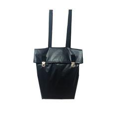 Black minimalist streetstyle backpack BORBA