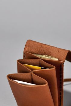 Accordion fold wallet made from one piece of  leather! simple and pretty design