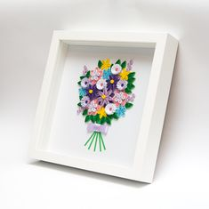 unusual framed wall art paper quilled flowers quilling home decor