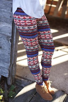fairisle leggings