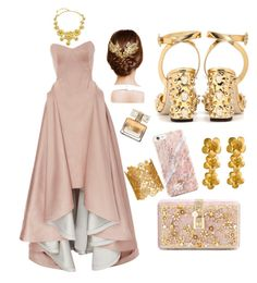"""Party in gold"" by bree-sabry on Polyvore featuring moda, Zac Posen, Dolce&Gabbana, Alex Monroe, Givenchy, Marika e Carlo Zini"