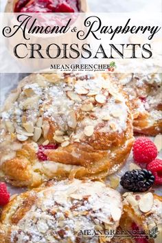 Almond Raspberry Stuffed Croissants are the perfect breaky in bed for your sweetheart. Plus, they're ridiculously easy to prepare but look like you've spent hours creating the perfect French pastry. Single Serve Desserts, Desserts For A Crowd, Great Desserts, Delicious Desserts, Tolle Desserts, Köstliche Desserts, Dessert Recipes, Plated Desserts, Pastry Recipes