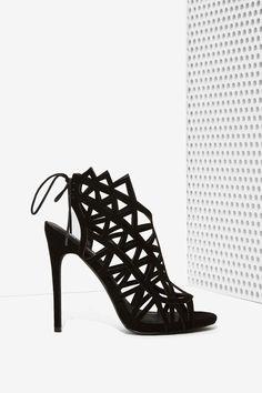 Nasty Gal Gridlock Cutout Heel