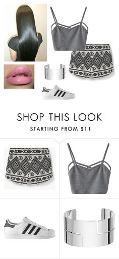 """""""Love In DuBai"""" by melissa-meely ❤ liked on Polyvore featuring MANGO, WithChic, adidas and Dinh Van"""