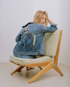 Exclusive: Supermodel Sasha Pivovarova Collaborates with Cult-Favorite Brand Frame on a Collection of Illustrated Denim Sasha Pivovarova, Russian Models, Frame Denim, Supermodels, Little Girls, Your Style, Clothes, Collection, Women