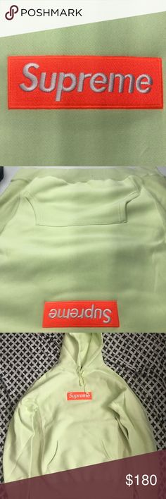 08e24e7450b2 Supreme Pale Green Box Logo Hoodie Sz. M Got this from a direct contracting  co