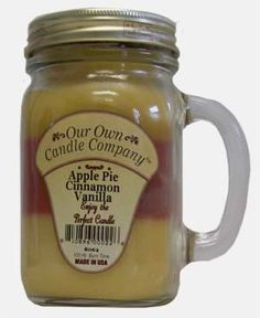 """""""Our Own Candle Company"""", soy candles made in USA.  Christmas gifts from my brother this year."""