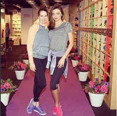 Miranda Kerr attends Reebok launch with ballerina Mary Helen Bowers 98c53d697